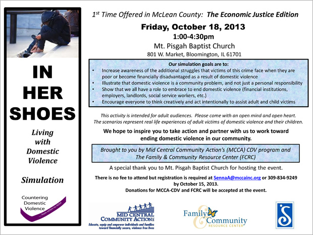 Living with Domestic Violence Simulation Flyer